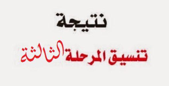 نتيجة تنسيق المرحلة الثالثة 2017 للثانوية العامة رابط موقع بوابة الحكومة المصرية