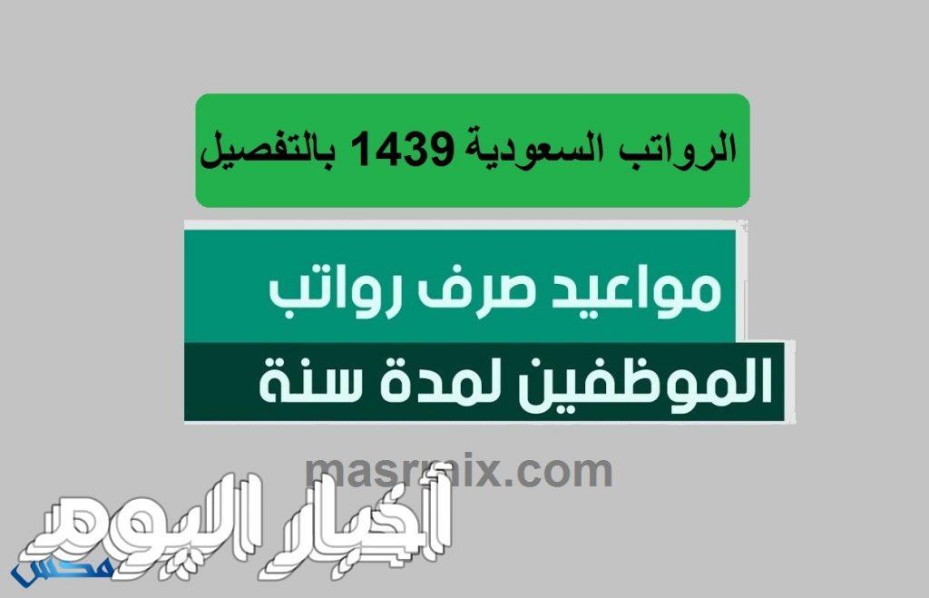موعد صرف الرواتب السعودية شهر صفر 1439 برج القوس.. ومواعيد صرف رواتب عام كامل