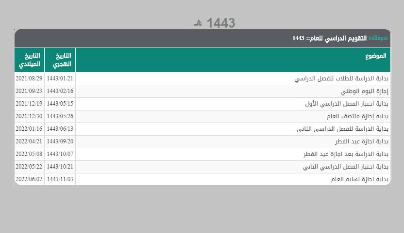 التقويم الدراسي 1439 لخمس سنوات ومواعيد الإجازات الرسمية