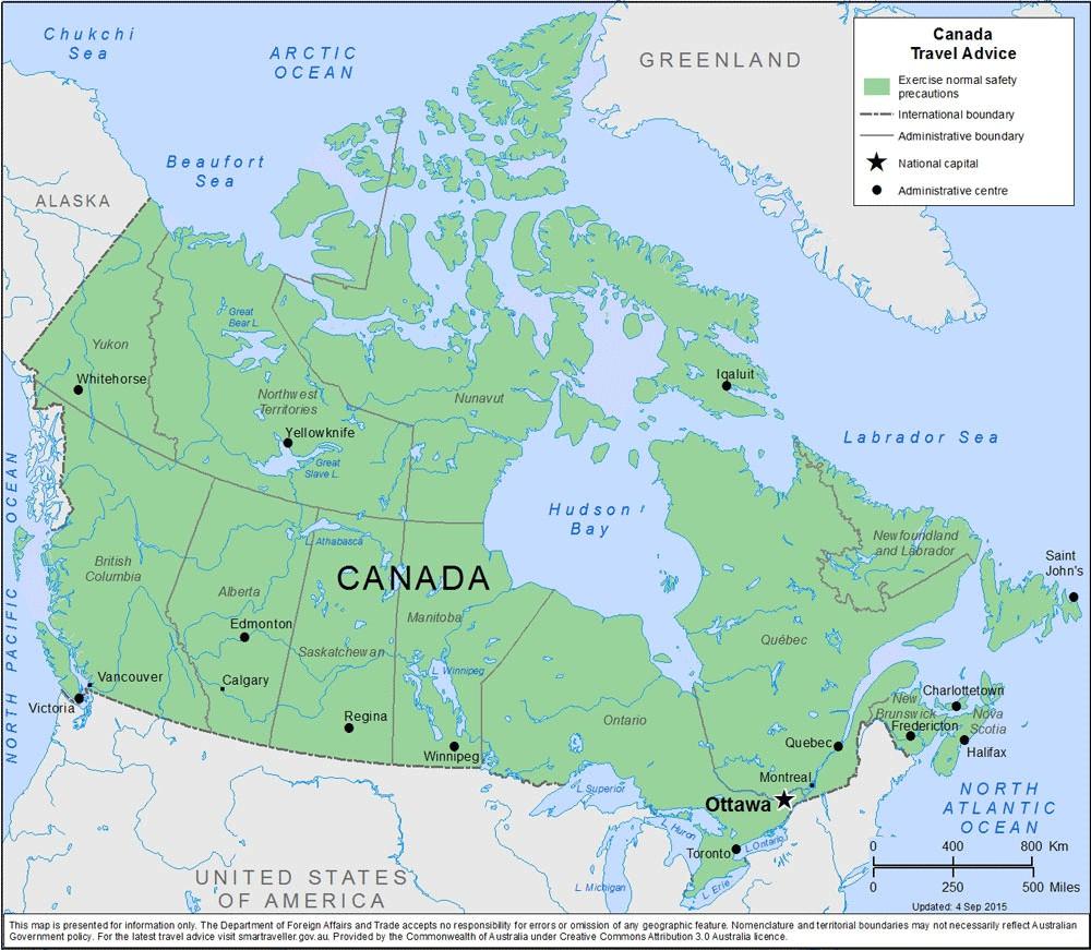 خريطة كندا