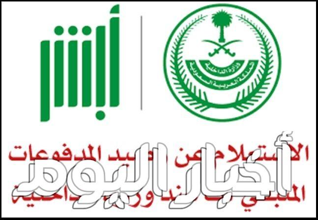 الاستعلام عن رصيد المدفوعات بوابة ابشر وزارة الداخلية السعودية برقم الهوية أو الاقامة