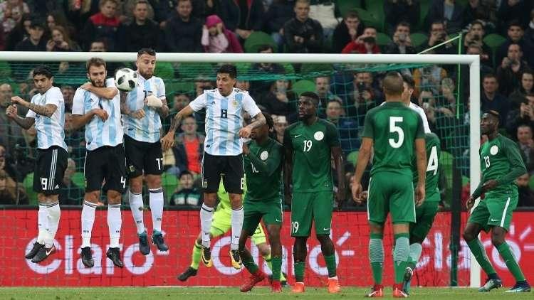 نتيجة مباراة الارجنتين ونيجيريا