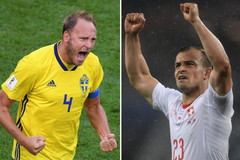 نتيجة وملخص مباراة السويد وسويسرا