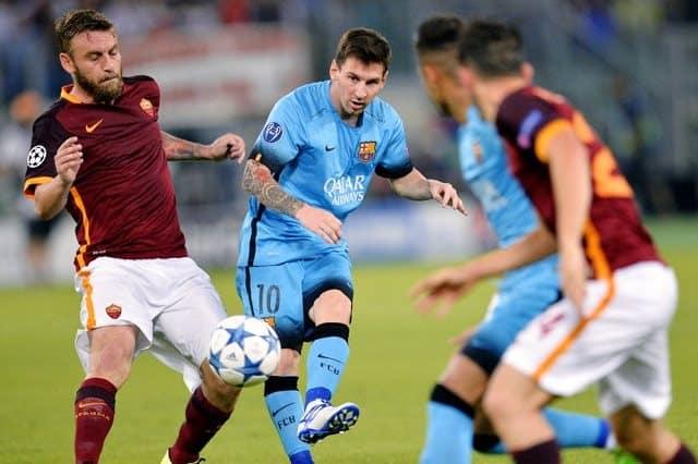 مباراة برشلونة وروما اليوم