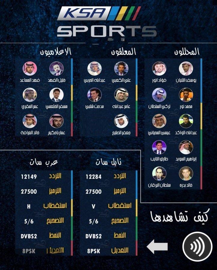 تردد قناة السعودية الرياضية hd