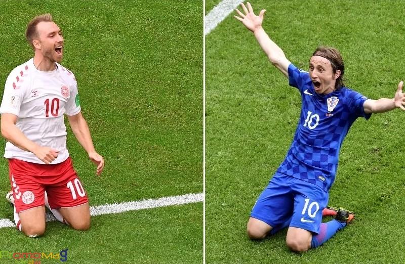 نتيجة وملخص مباراة كرواتيا والدنمارك اليوم